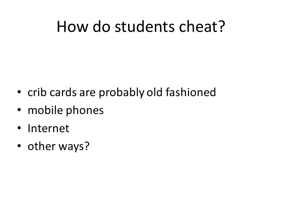 Why do students cheat.
