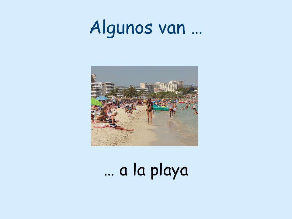 Algunos van … … a la playa