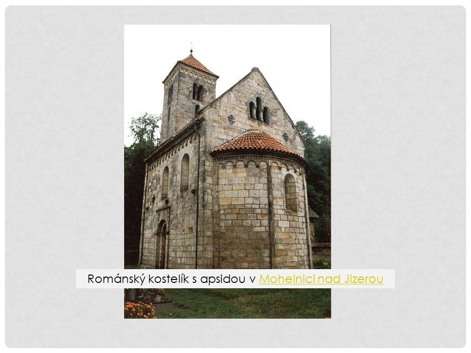 Románský kostelík s apsidou v Mohelnici nad JizerouMohelnici nad Jizerou