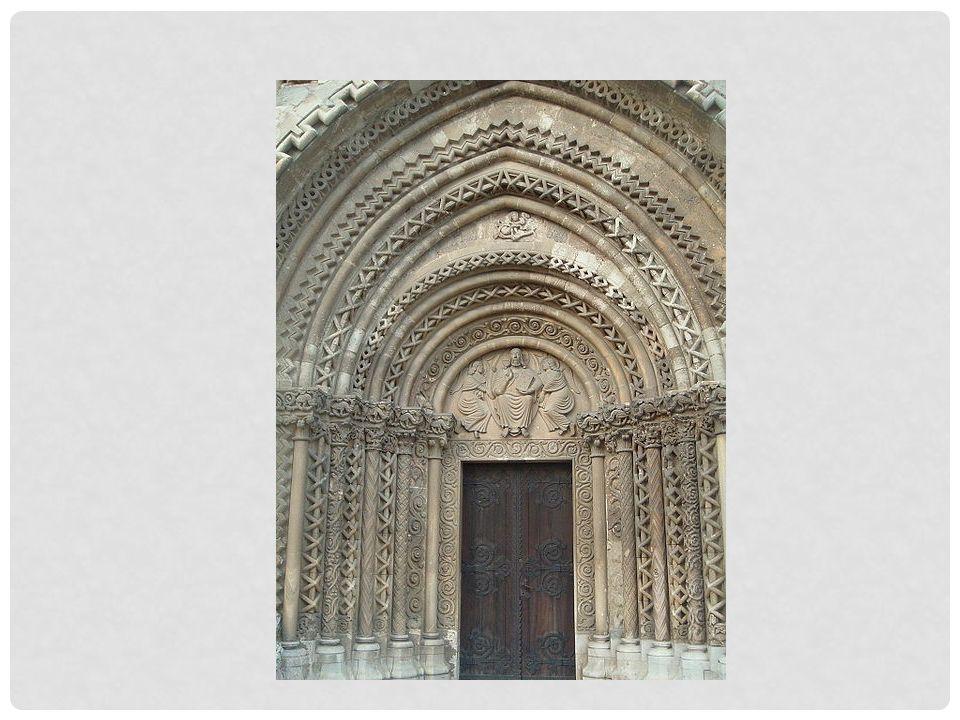 PORTAL, CHURCH OF SANTA MARIA, VIU DE LLEVATA,CATALONIA, SPAIN