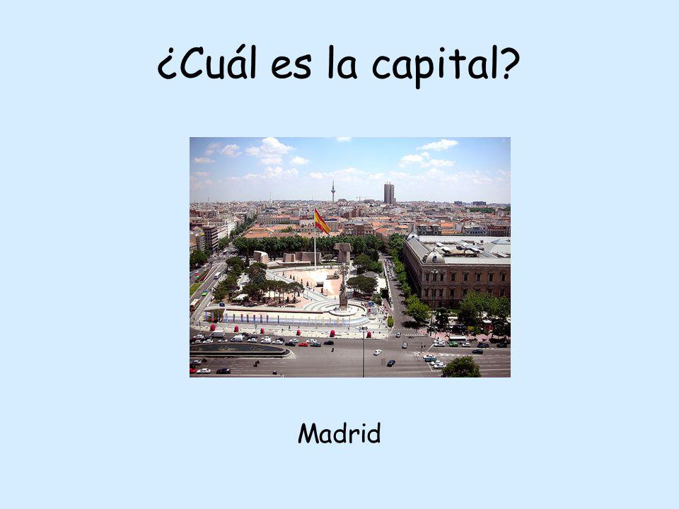¿Cuál es la capital Madrid