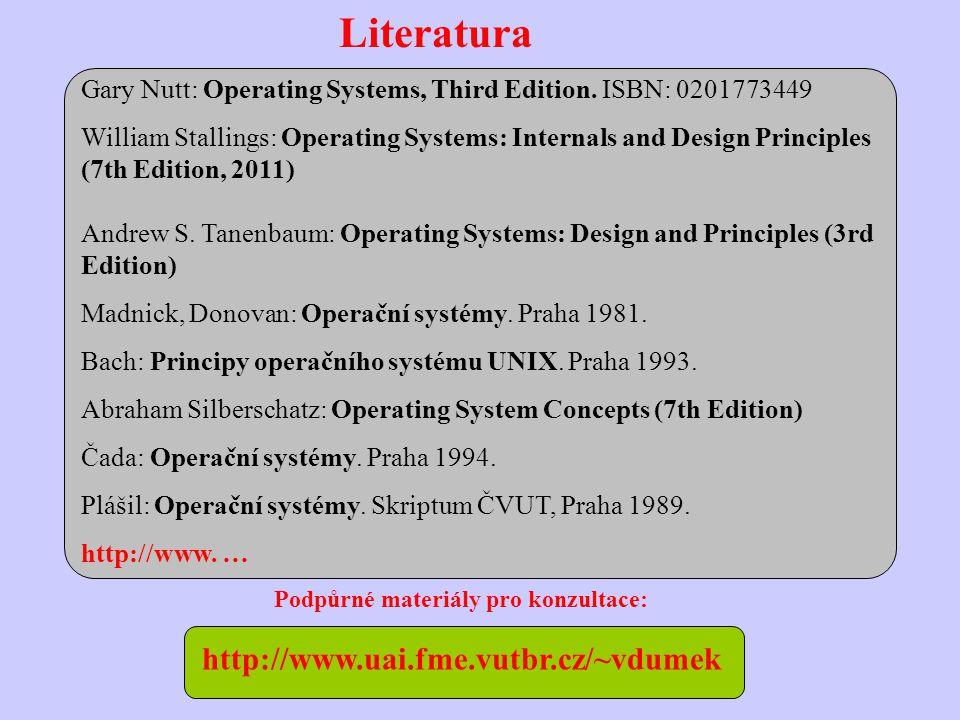 Literatura Gary Nutt: Operating Systems, Third Edition.
