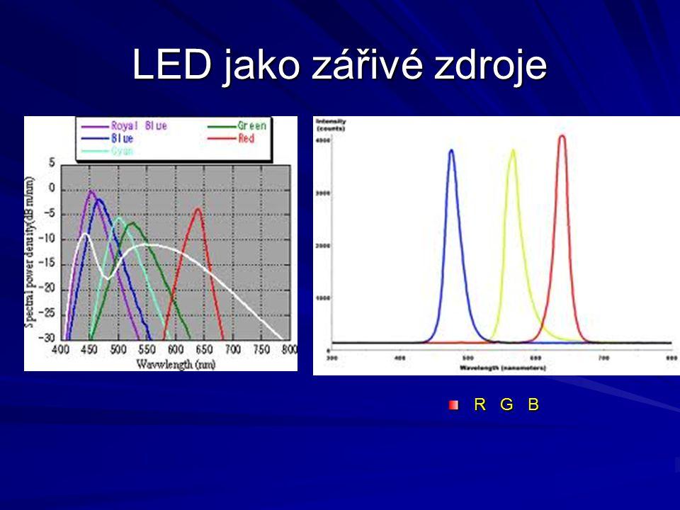 LED jako zářivé zdroje R G B
