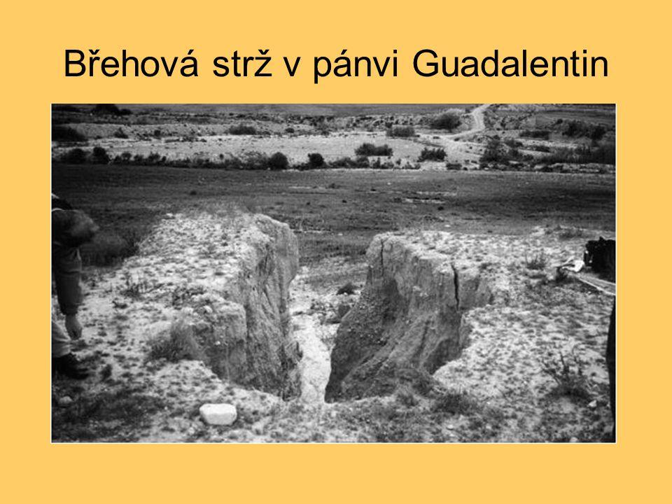 Břehová strž v pánvi Guadalentin
