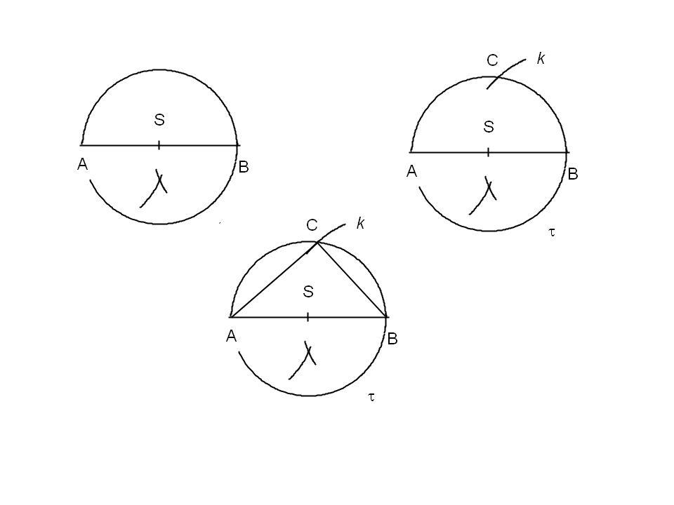 Úkoly: narýsuj pravoúhlé trojúhelníky: ABC c = 7 cm b = 3 cm KLM m = 6,5 cm k = 2,7 cm XYZ │XY│ = 5,7 cm │XZ│ = 2,5 cm