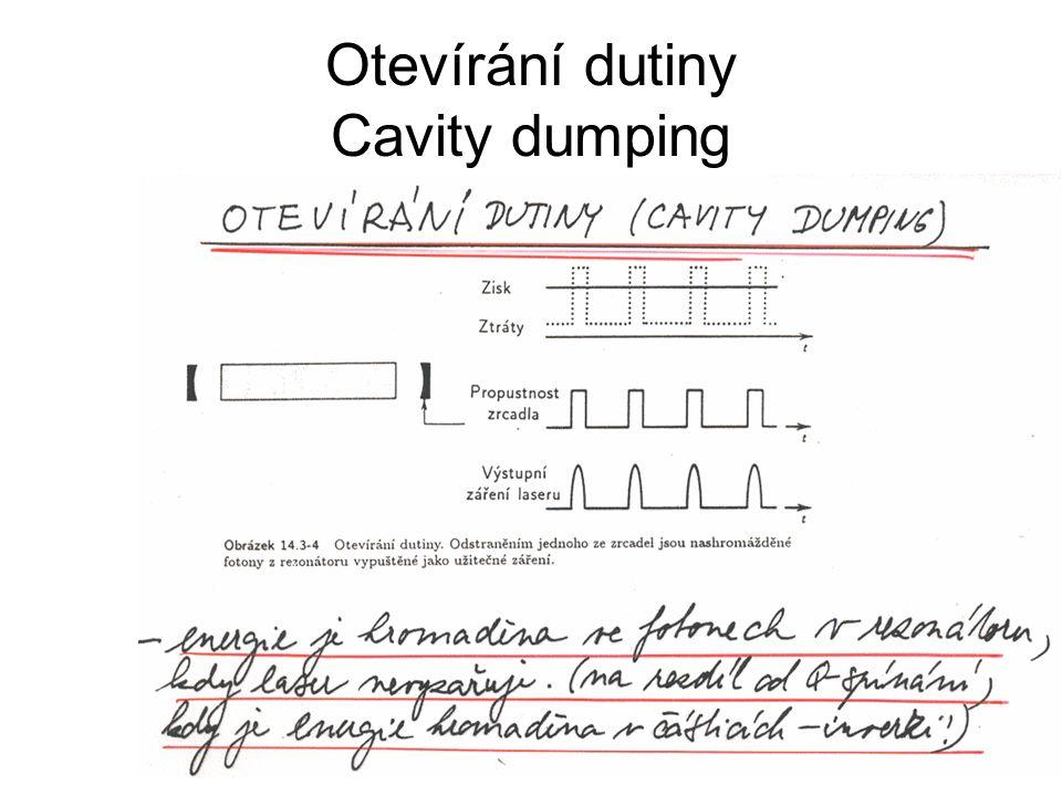 Otevírání dutiny Cavity dumping