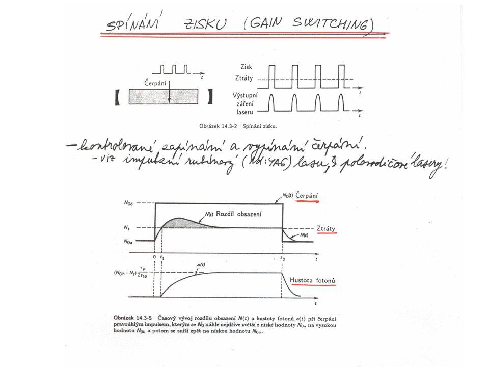 Polovodičový absorbér LTGa As (n=3.49) Al As (n= 2.94) GaAs LTInGaAs (n= 3.2) 20pairs GaAs 400 um InGaAs Substrate QW 15 nm AlAs 90.5nm GaAs 76.2nm BraggMirror GaAs 61 nm AlAs 90.5nm R>97% Run#870,MQ2 Vyrobeno v Center for High Technology Materials, University of New Mexico, Albuquerque, USA