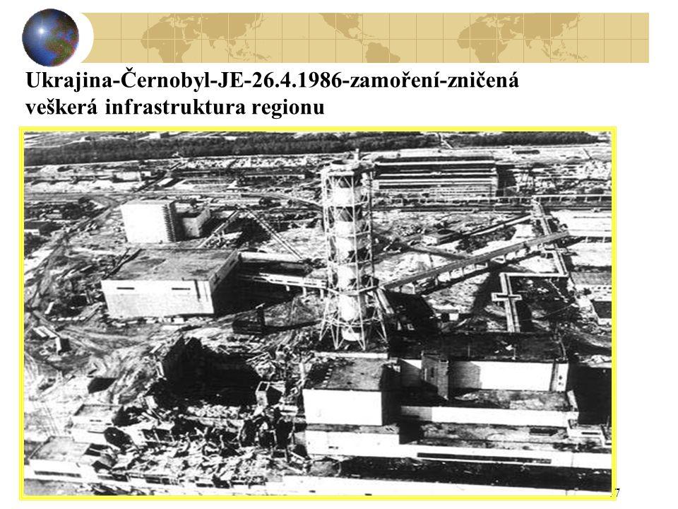 47 Ukrajina-Černobyl-JE-26.4.1986-zamoření-zničená veškerá infrastruktura regionu