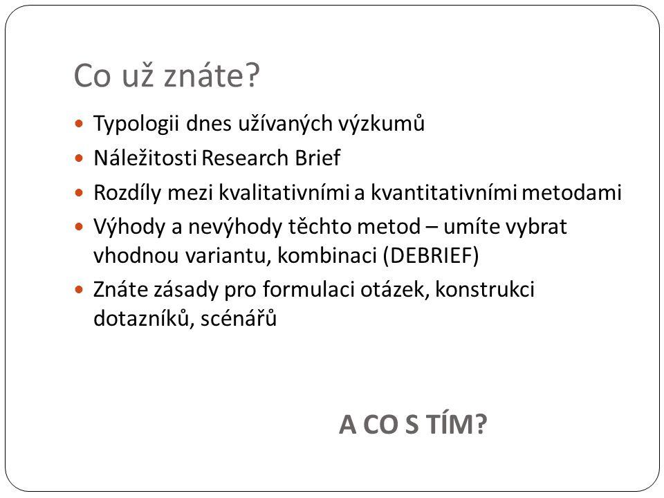 Postup vyhodnocování Vytřiďte dotazníky Očíslujte dotazníky Zakódujte odpovědi Vytvořte záhlaví tabulky Pro jednotlivé otázky/odpovědi pořadíOt č.