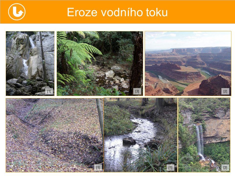 Eroze vodního toku [1][1][2][2][3][3] [1][1][1][1][3][3]
