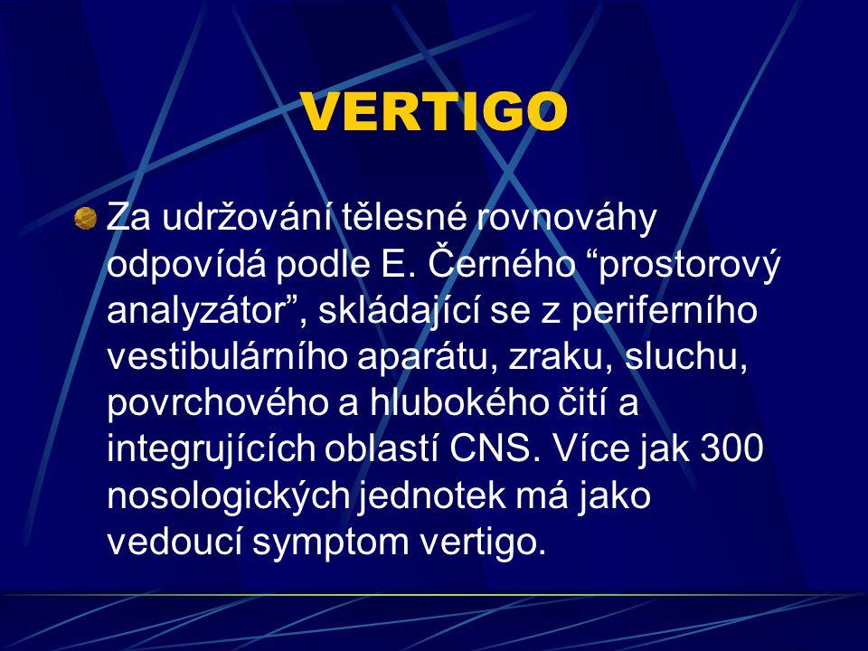 Terapie chronického vertiga Při terapii chronických stavů užíváme nejčastěji VASOAKTIVNÍ LÁTKY NOOTROPIKA BETAHISTIN G.