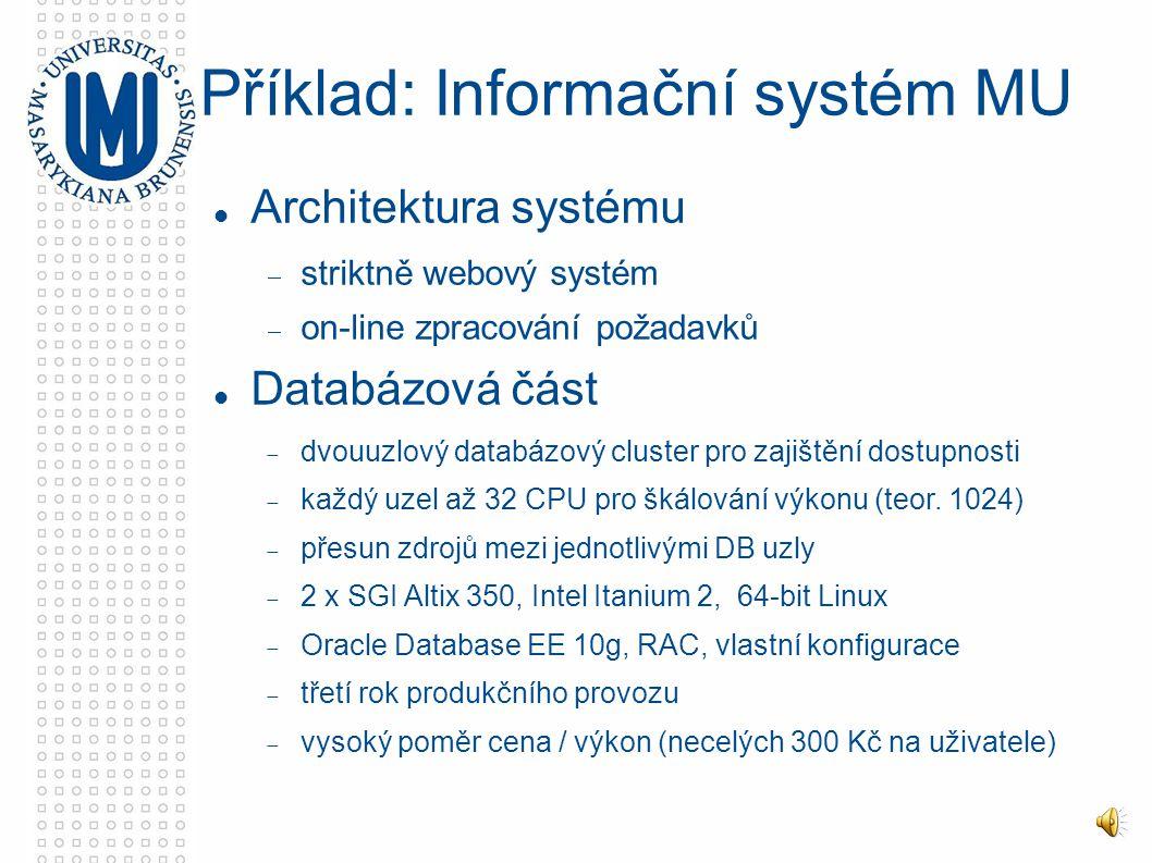 """Motivace:  vysoká dostupnost, transparentní vůči aplikacím  navýšení propustnosti, horizontální zvýšení výkonu """"share-nothing clustery  standby databáze  single point of failure  In-memory databáze """"share-all clustery  on-line sdílení dat více instancemi (čtení i zápis)  """"global cache - sdílení na úrovni paměti Distribuované DBS"""