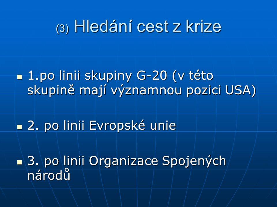 (4) Akční plán skupiny G-20 1.Posílení transparentnosti a odpovědnosti 1.