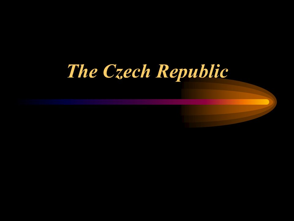 The Czech Republic - in the centre of Europe with an area of 78,866 sq.