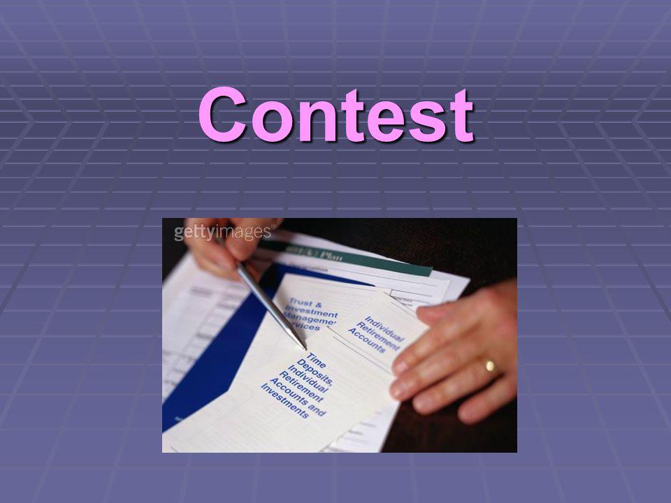 """Contest  Reverzní úloha k B  Mohly v tom být """"složitosti  Nutné připravit si dostatečný počet účtů  S dostatečnými zůstatky  Ve správných bankách ..."""
