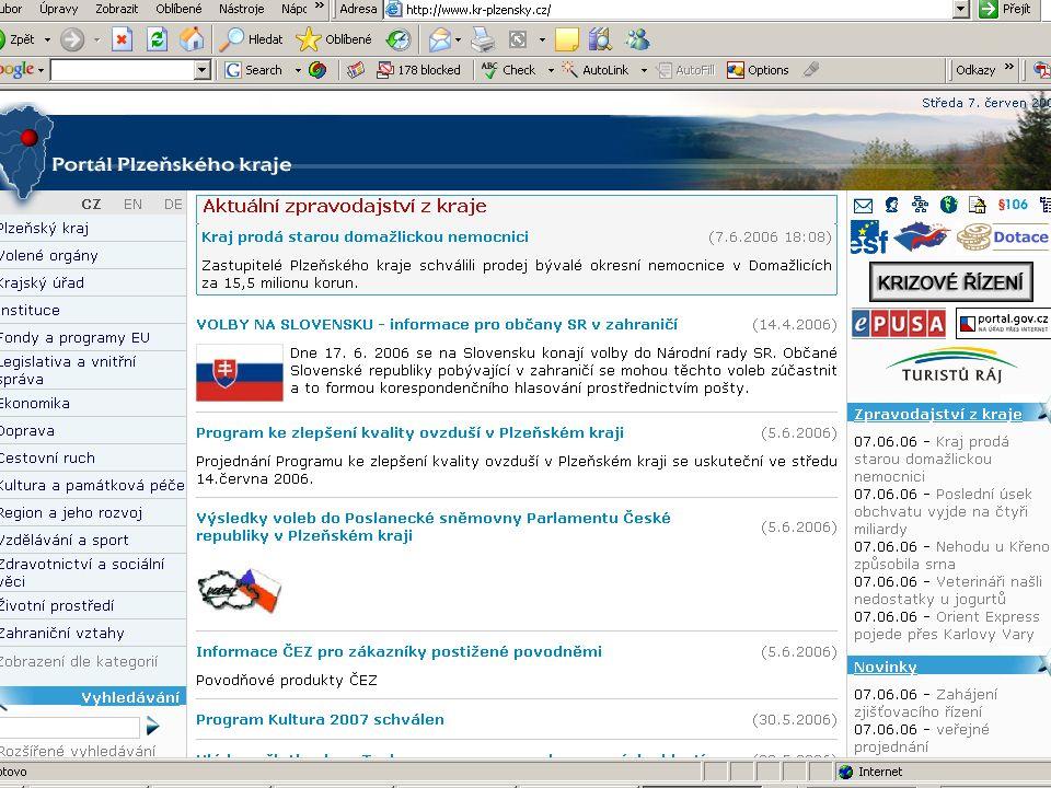 ZČU, 20.6.2006, Jiří Vacek AKADEMIK 06 - Informační zdroje 23