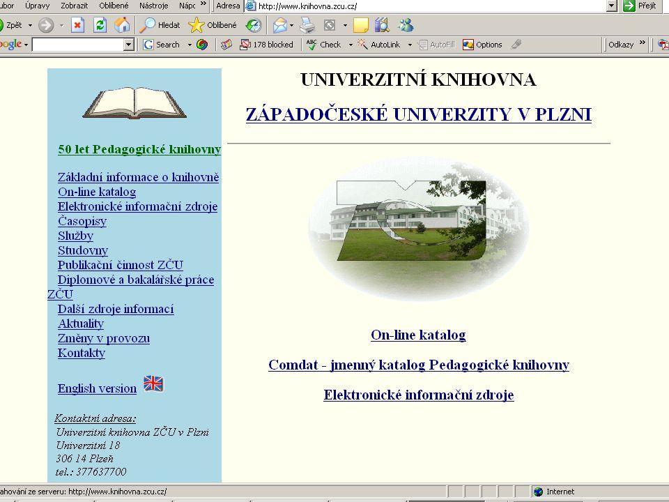 ZČU, 20.6.2006, Jiří Vacek AKADEMIK 06 - Informační zdroje 31