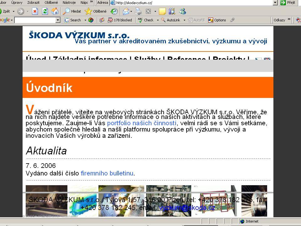 ZČU, 20.6.2006, Jiří Vacek AKADEMIK 06 - Informační zdroje 55