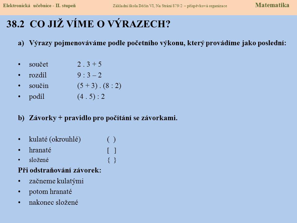 38.3 NOVÉ TERMÍNY A NÁZVY Elektronická učebnice - II.