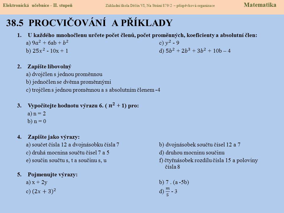 36.6 PRO ŠIKOVNÉ Elektronická učebnice - II.
