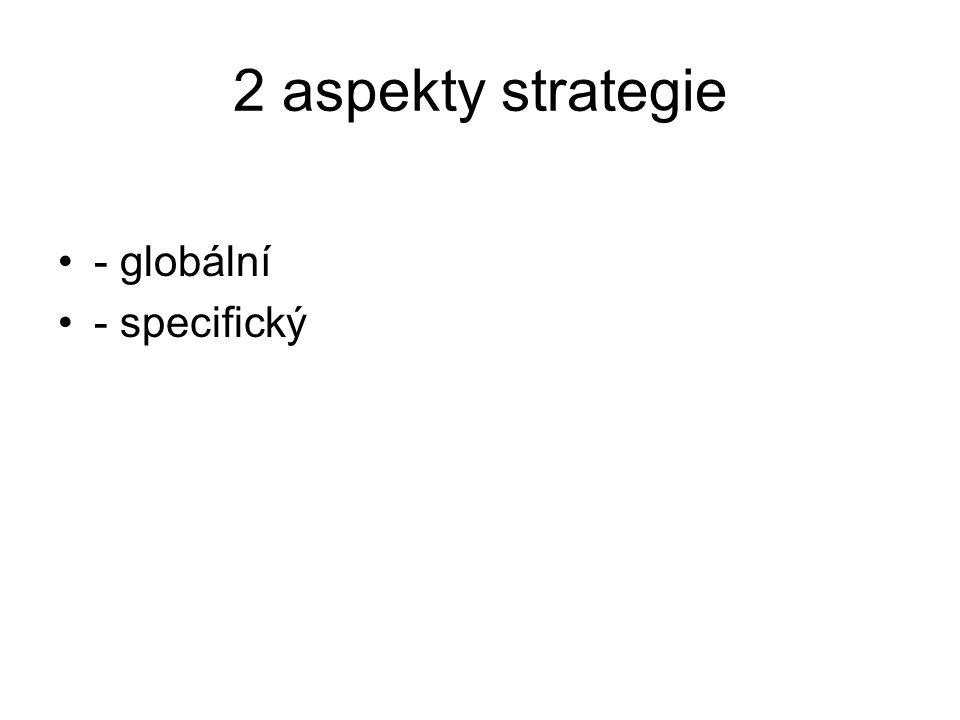 2 aspekty strategie - globální - specifický