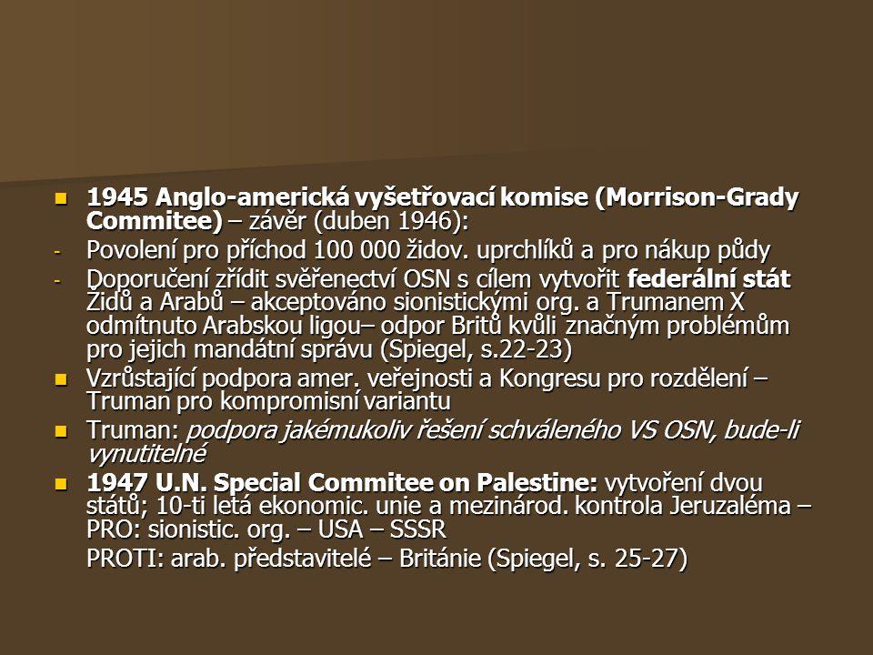 1945 Anglo-americká vyšetřovací komise (Morrison-Grady Commitee) – závěr (duben 1946): 1945 Anglo-americká vyšetřovací komise (Morrison-Grady Commitee