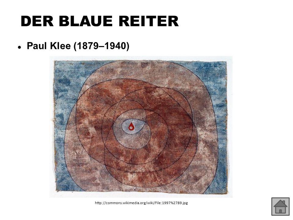 DER BLAUE REITER ● Paul Klee (1879–1940) http://commons.wikimedia.org/wiki/File:1997%2789.jpg