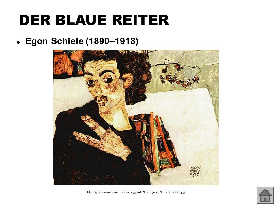 DER BLAUE REITER ● Egon Schiele (1890–1918) http://commons.wikimedia.org/wiki/File:Egon_Schiele_080.jpg