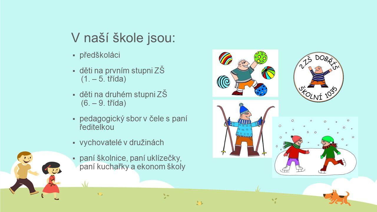 V naší škole jsou:  předškoláci  děti na prvním stupni ZŠ (1.