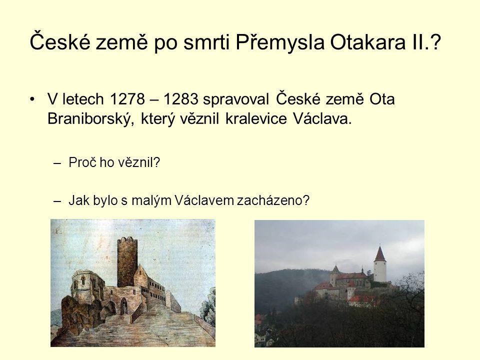 České země po smrti Přemysla Otakara II..