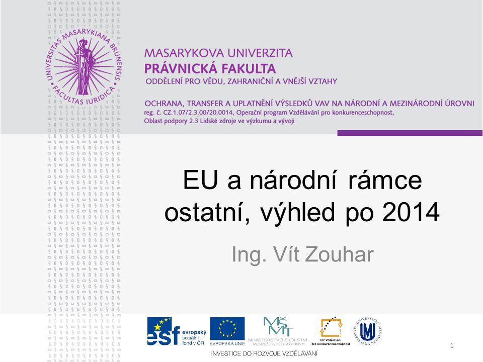 1 EU a národní rámce ostatní, výhled po 2014 Ing. Vít Zouhar