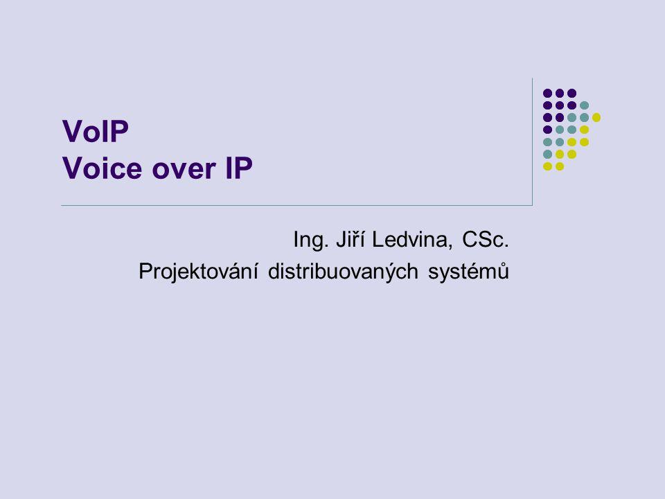 VoIP Voice over IP Ing. Jiří Ledvina, CSc. Projektování distribuovaných systémů