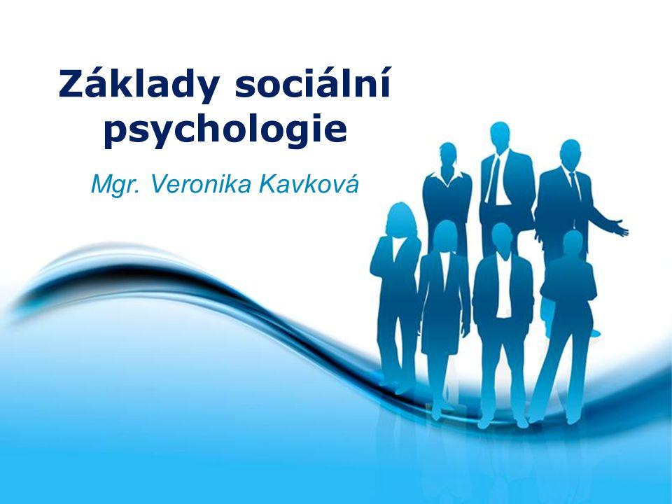 Free Powerpoint Templates Page 1 Free Powerpoint Templates Základy sociální psychologie Mgr. Veronika Kavková