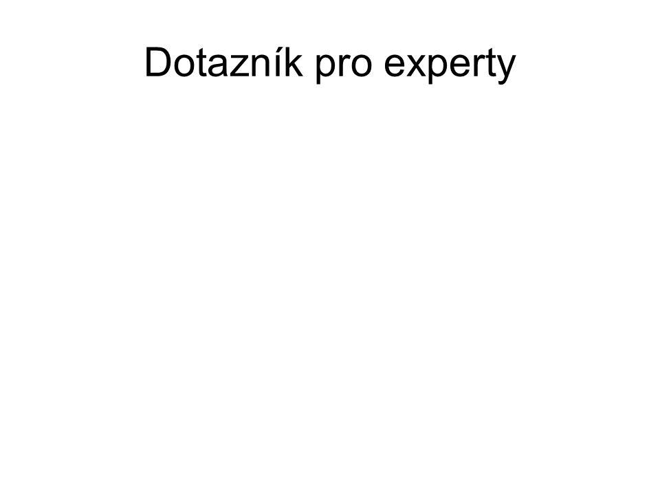 Dotazník pro experty