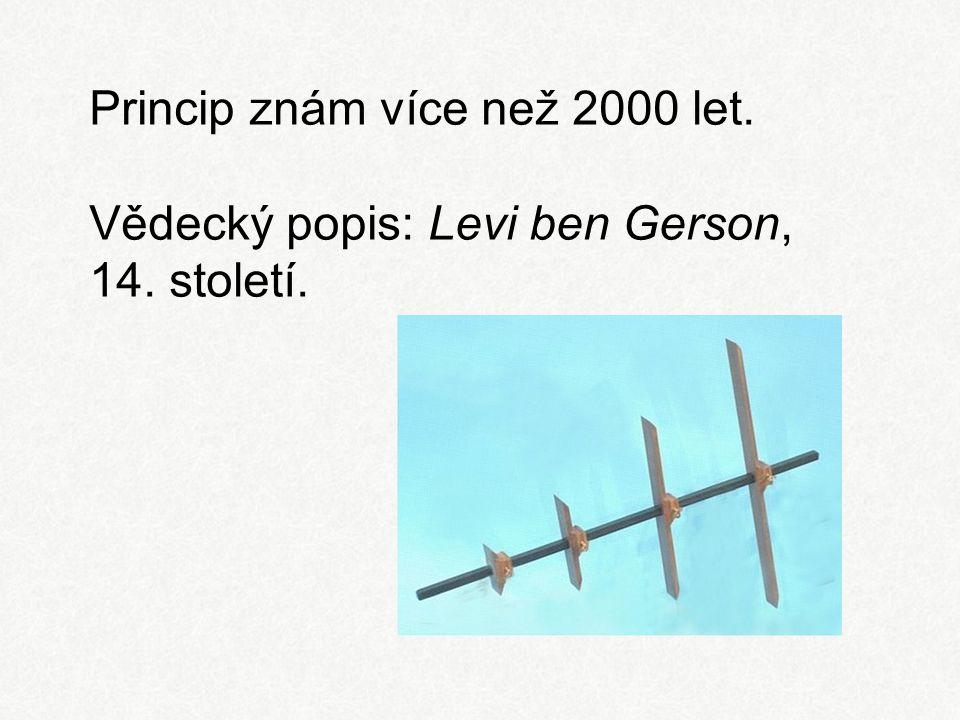Princip znám více než 2000 let. Vědecký popis: Levi ben Gerson, 14. století.
