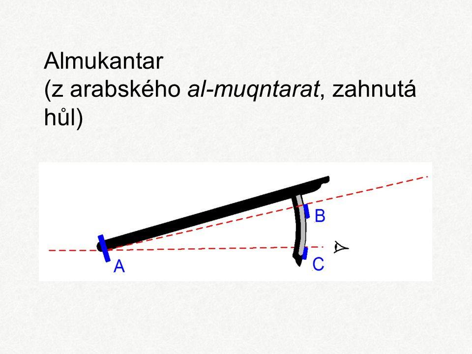 Almukantar (z arabského al-muqntarat, zahnutá hůl)