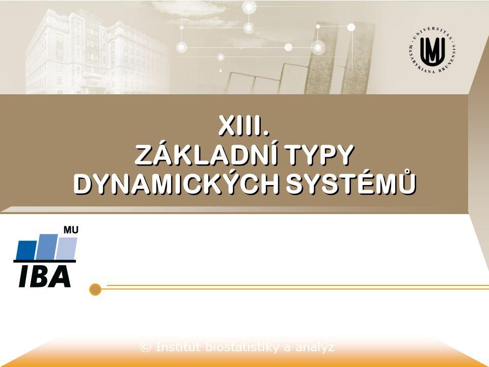 © Institut biostatistiky a analýz XIII. ZÁKLADNÍ TYPY DYNAMICKÝCH SYSTÉM Ů