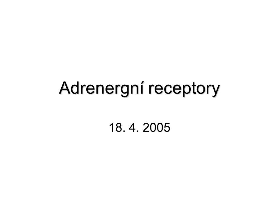  -1-adrenergní receptory  Jsou členy G protein-coupled receptorové superrodiny.
