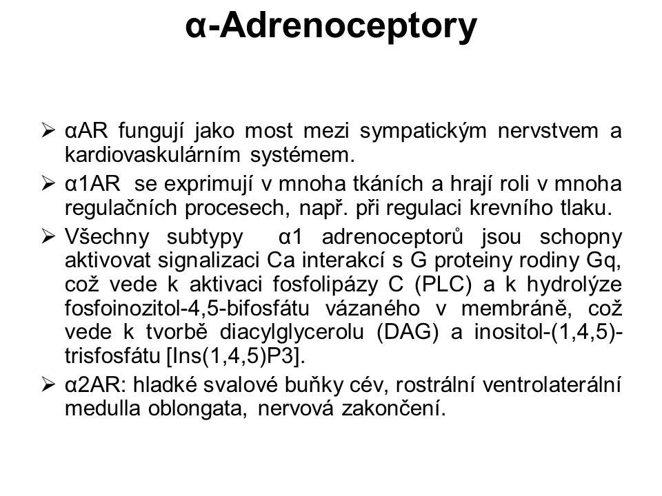 α-Adrenoceptory  αAR fungují jako most mezi sympatickým nervstvem a kardiovaskulárním systémem.  α1AR se exprimují v mnoha tkáních a hrají roli v mn