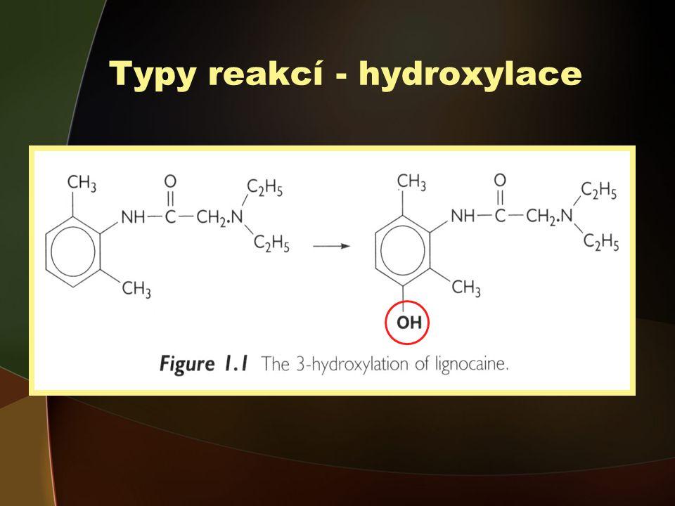 Typy reakcí - hydroxylace