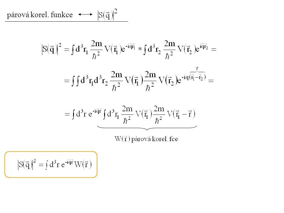 párová korel. funkce