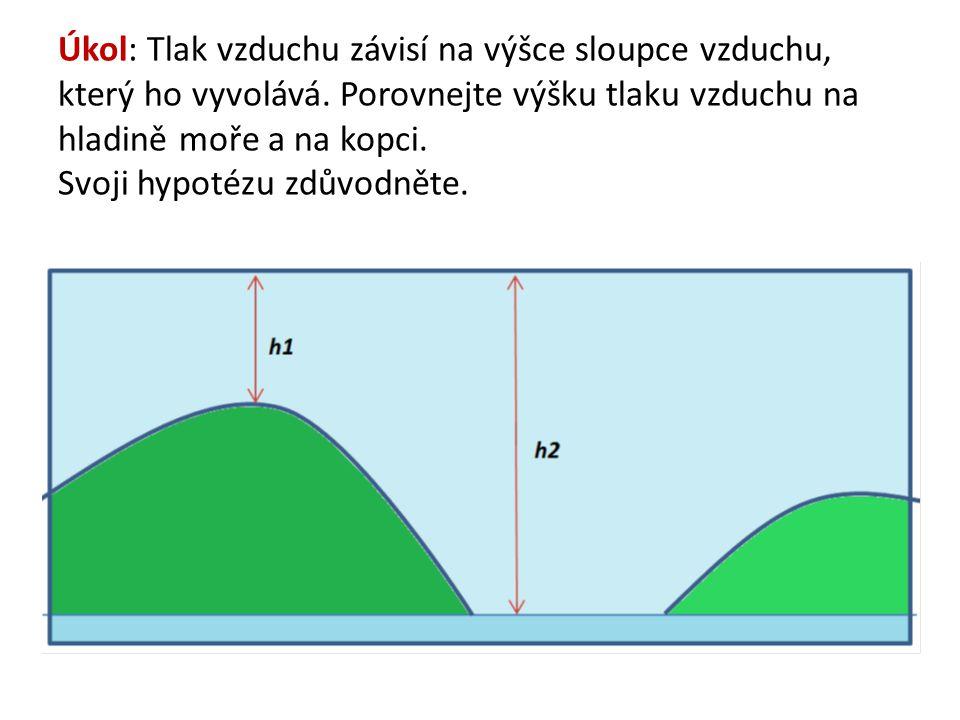 Atmosférický tlak (tlak vzduchu) Na velikost atmosférického tlaku má vliv: – teplota vzduchu – obsah vodní páry v atmosféře – nadmořská výška – zeměpisná šířka.
