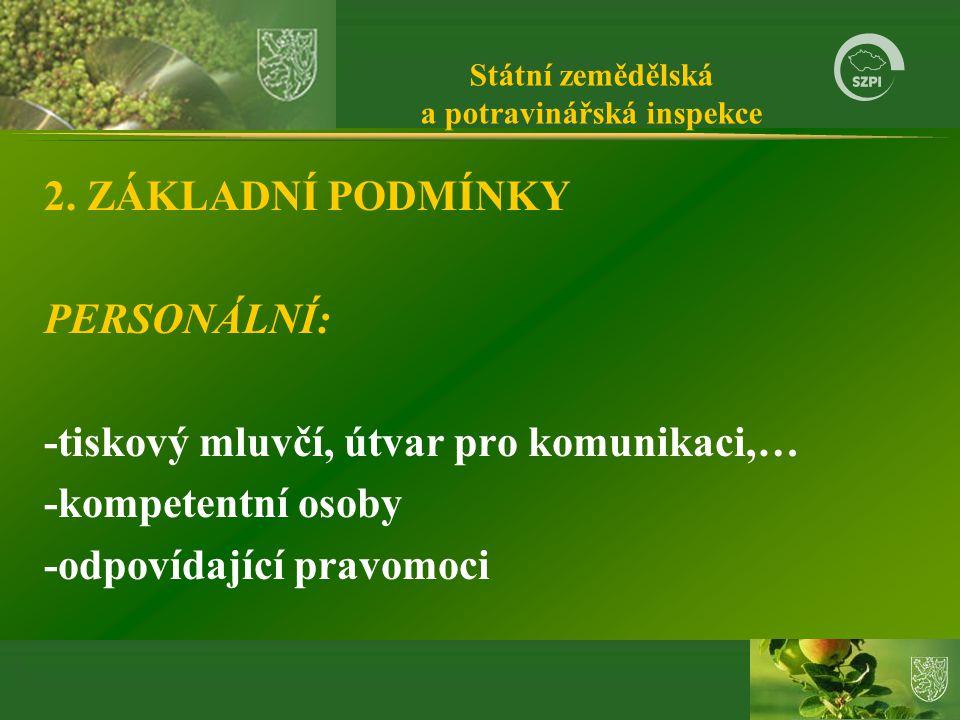 Státní zemědělská a potravinářská inspekce 2.