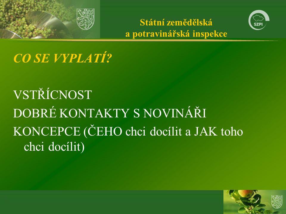 Státní zemědělská a potravinářská inspekce CO SE VYPLATÍ.