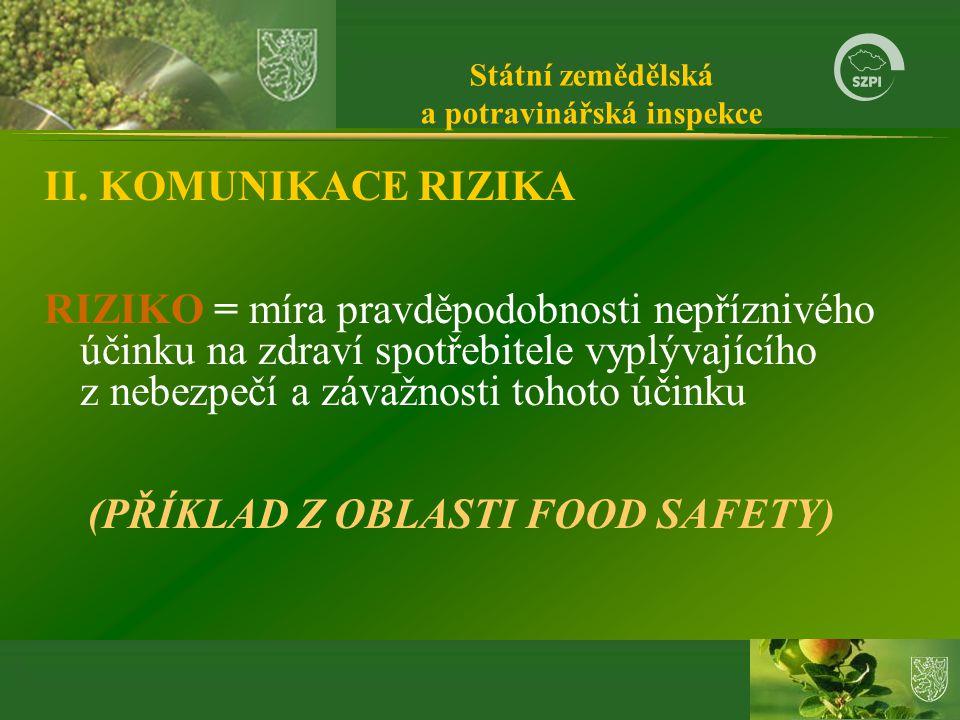 Státní zemědělská a potravinářská inspekce II.
