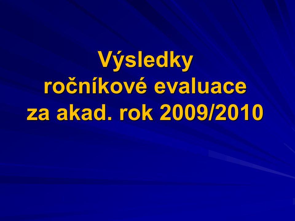 Výsledky ročníkové evaluace za akad. rok 2009/2010