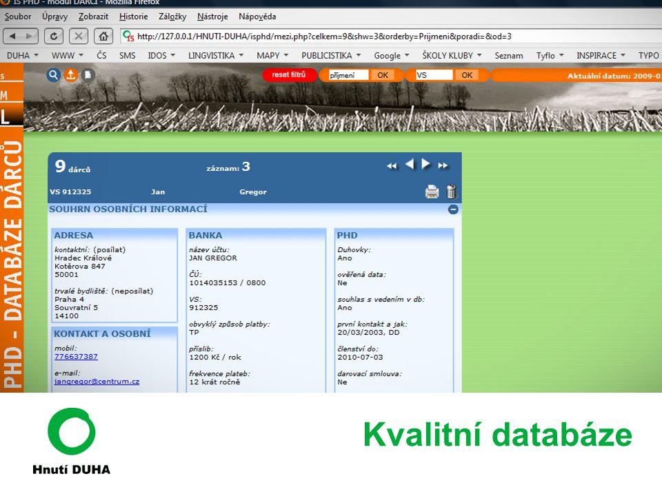 Kvalitní databáze