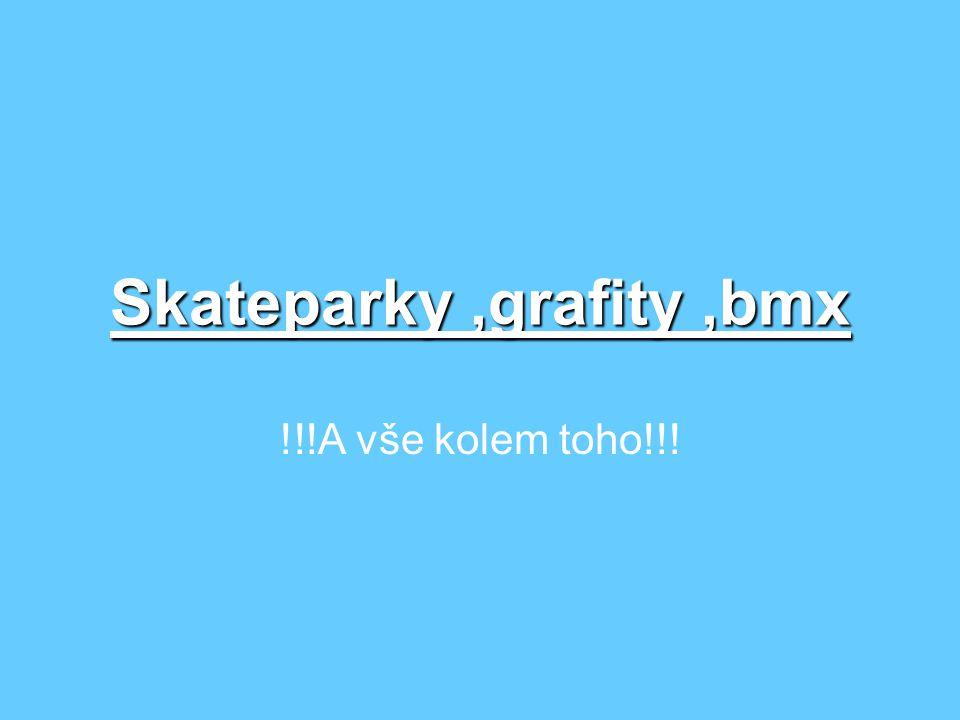 Skateparky,grafity,bmx !!!A vše kolem toho!!!