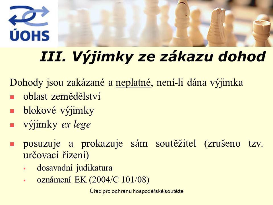 Úřad pro ochranu hospodářské soutěže III.