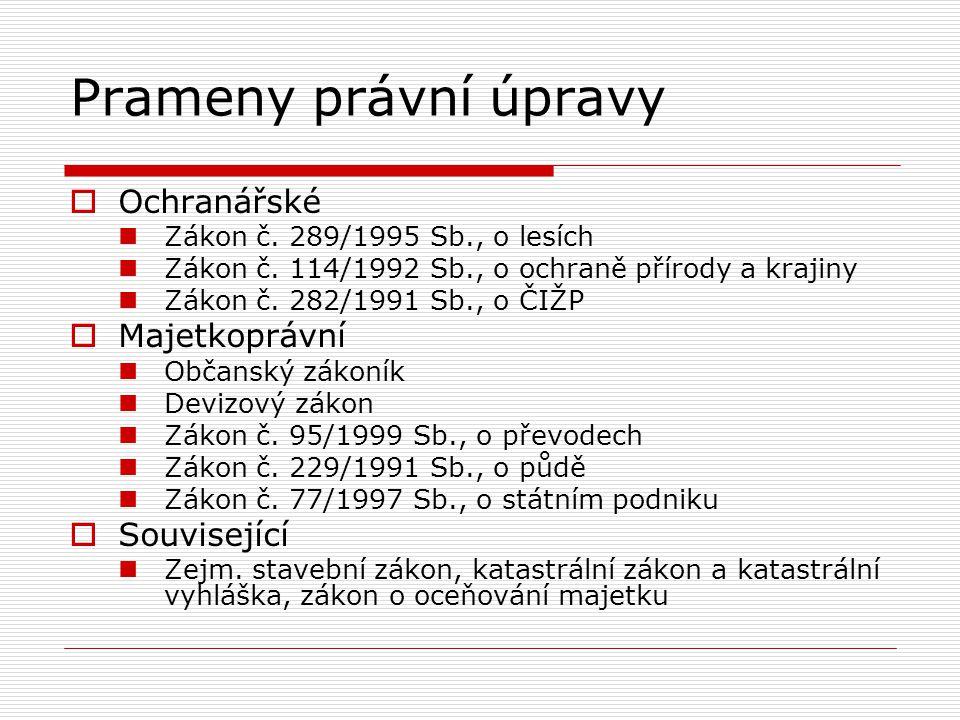 Lesy ČR, s.p. Státní podnik Zákon č. 77/1997 Sb.